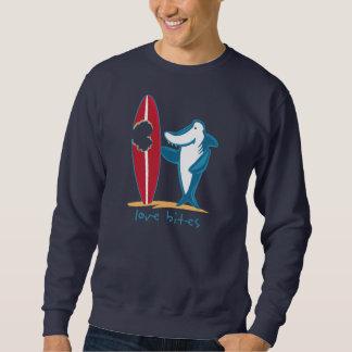Surfing Shark Valentine Sweatshirt