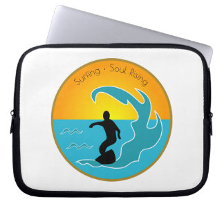 Surfing Soul Rising Computer Sleeve
