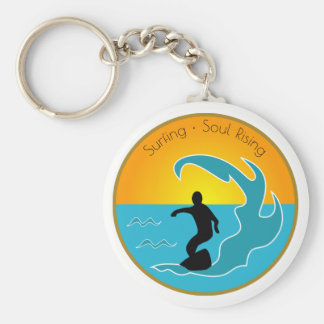 Surfing Soul Rising Keychain