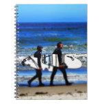 Surfing Spiral Note Book