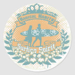 Surfing Spirit Tshirts and Gifts Classic Round Sticker