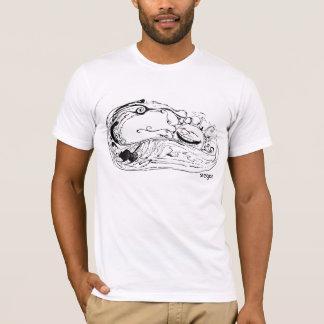 Surfing sun black and white shirt
