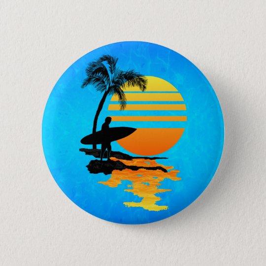 Surfing Sunrise Button