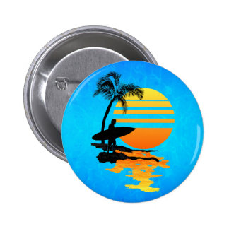 Surfing Sunrise Button