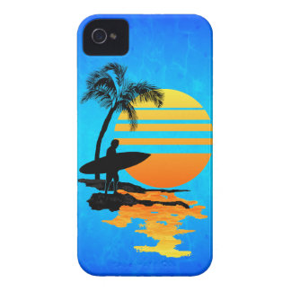 Surfing Sunrise iPhone 4 Cover