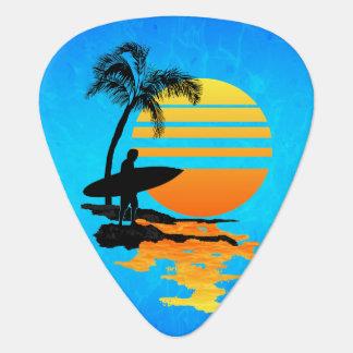 Surfing Sunrise Guitar Pick