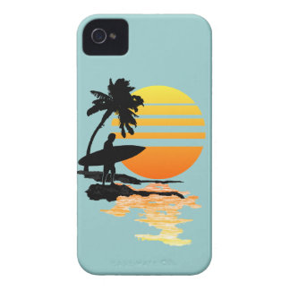 Surfing Sunrise iPhone 4 Case-Mate Case
