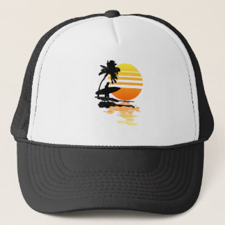 Surfing Sunrise Trucker Hat