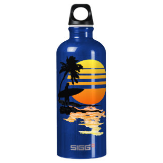 Surfing Sunrise Water Bottle