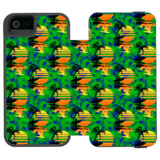 Surfing Sunset iPhone SE/5/5s Wallet Case