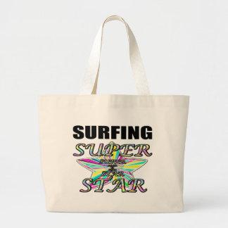 Surfing Superstar Jumbo Tote Bag