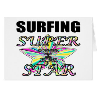 Surfing Superstar Greeting Card