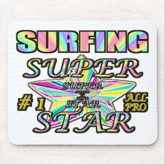 Surfing Superstar Mouse Pad
