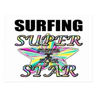 Surfing Superstar Postcard