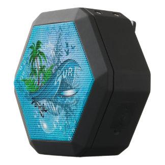Surfing, surfboard black bluetooth speaker