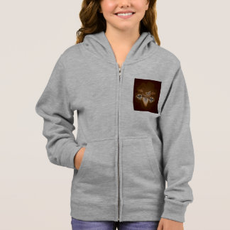 Surfing, surfboarder with glowing lines hoodie