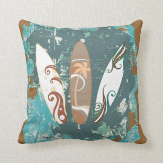 surfing surfboards throw pillows sand