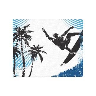 Surfing Surfer Canvas Print