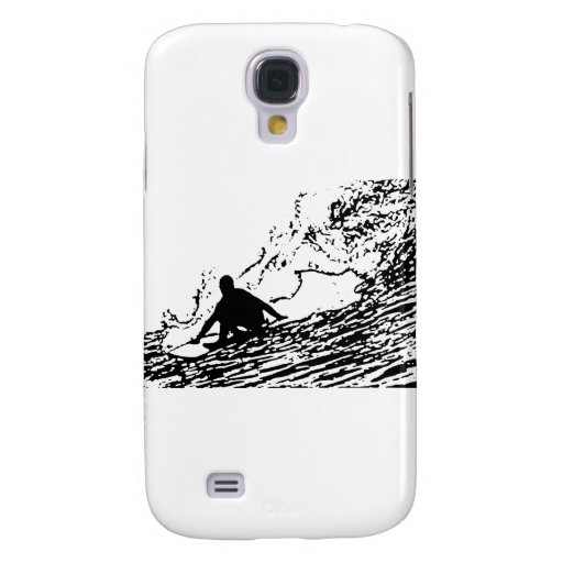Surfing Surfer Design Retro Style Galaxy S4 Covers