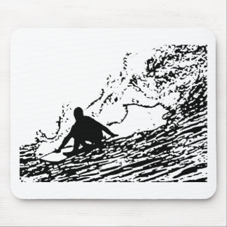 Surfing Surfer Design Retro Style Mouse Pad