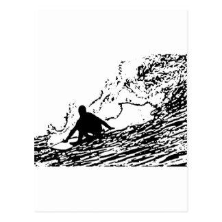 Surfing Surfer Design Retro Style Postcard