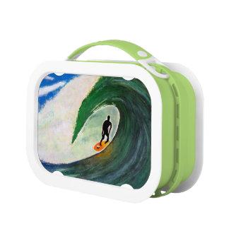 Surfing Surfer in Hawaii School Lunch box plastic