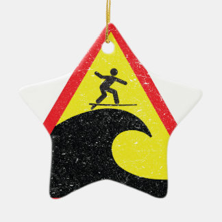 Surfing Surfer Surfs Ceramic Ornament