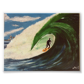 Surfing Surfer The Tube Ride Wave ocean Art Poster