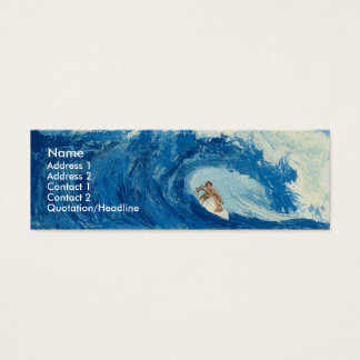 Surfing Surfer Tube Ride Ocean Wave Profile Card