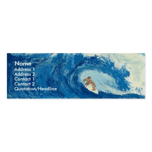 Surfing Surfer Tube Ride Ocean Wave Profile Card Business Cards