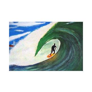 Surfing Surfer Tuberide Ocean Water Sports Canvas