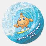surfing sweety sticker