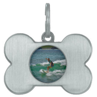 Surfing Tamarindo Pet ID Tag