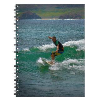 Surfing Tamarindo Spiral Notebook