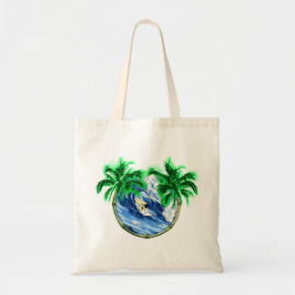 Surfing The Barrel Budget Tote Bag