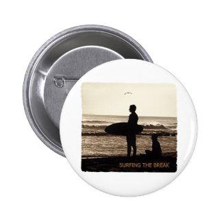 surfing the break pinback button