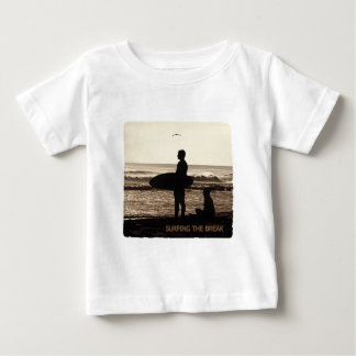 surfing the break t-shirt