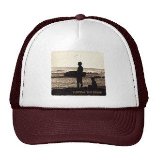 surfing the break trucker hat