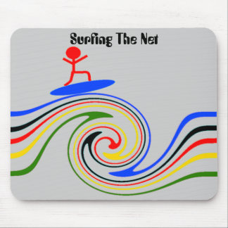 Surfing the internet mouse pad