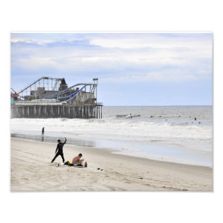 Surfing the Jersey Shore Photo Print