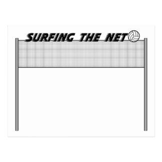 Surfing The Net Postcard
