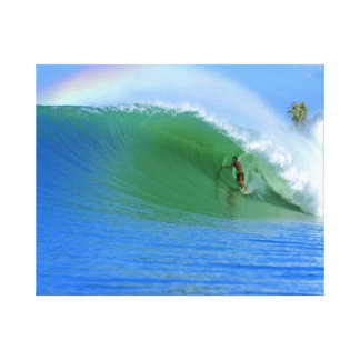 Surfing The Perfect Wave Canvas Canvas Print