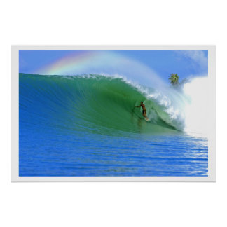 Surfing The Perfect Wave Poster
