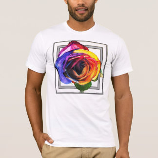 Surfing the Rainbow Rose Shirt