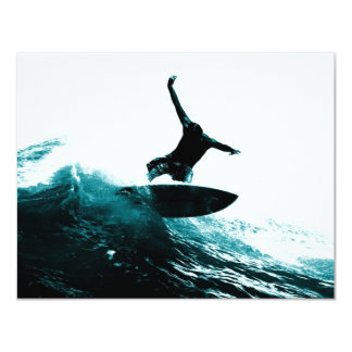 Surfing the Wave 4.25x5.5 Paper Invitation Card