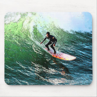 surfing the wave mousepad
