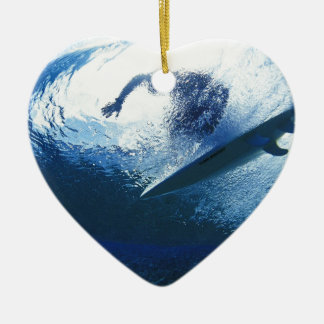 Surfing Time in The Beach Ceramic Ornament