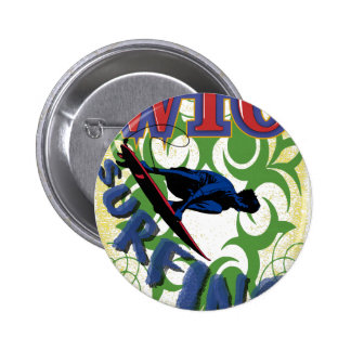 surfing tribal button