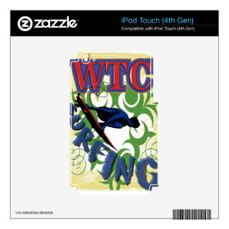 surfing tribal iPod touch 4G decal