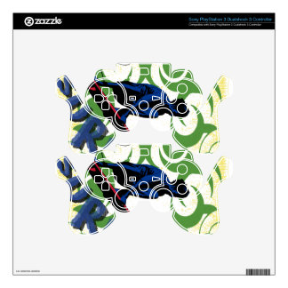 surfing tribal PS3 controller decal